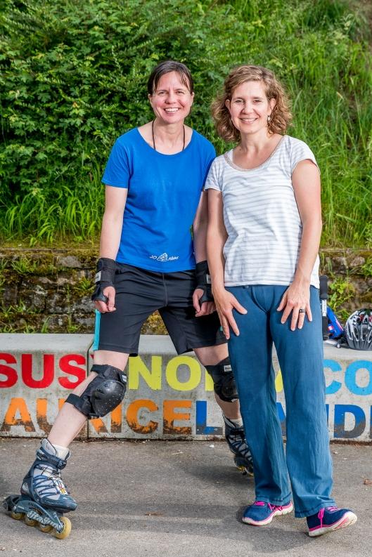 Doris Kathriner und Simone Steffen halten die Jugendlichen auf Trab
